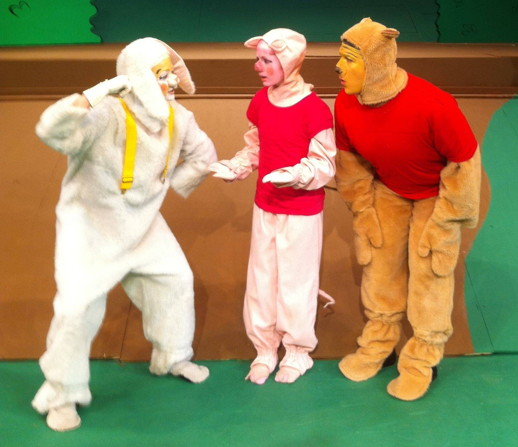 Liz Humphrey (Rabbit) Ryan Wenzel (Pooh Bear) and Brittany Tamason ( & Winnie the Poohu0027 visits Schaumburg H.S.