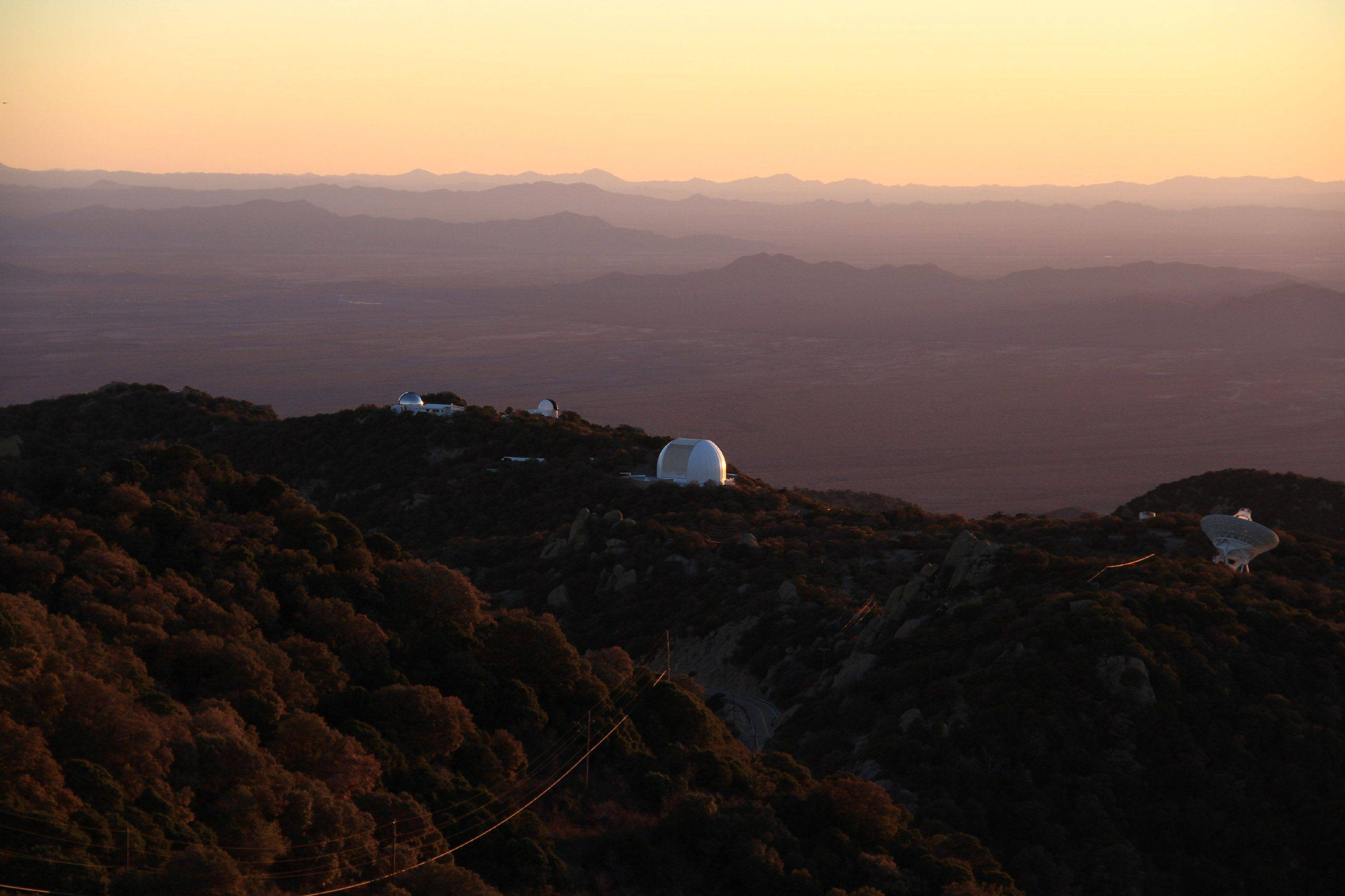 While on vacation with my wife Cindy, I photographed Kitt Peak National Observatory at sunset near Tucson, AZ.