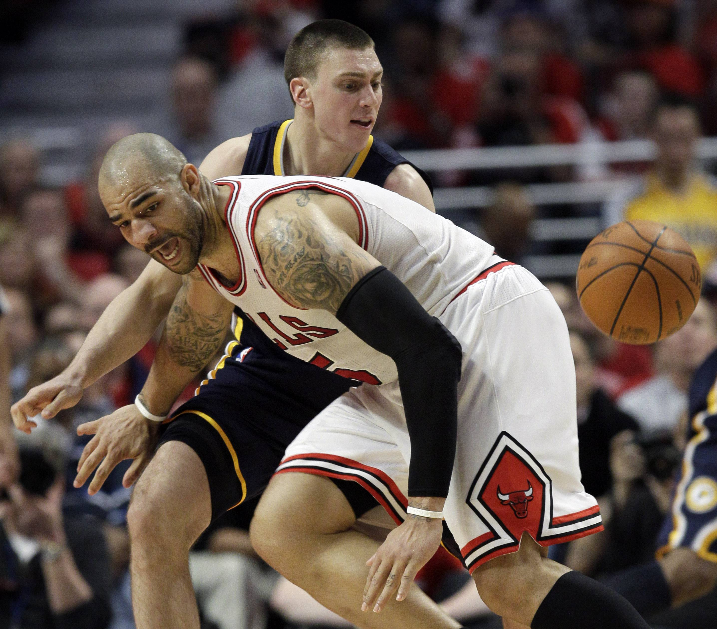 Hansbrough a handful for Bulls