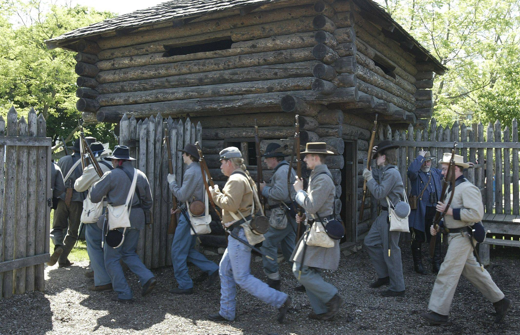 Civil War re-enactors make use of Fort Payne during Civil War Days at Naper Settlement. The museum village will host an overnight program for middle school students at the fort this summer to help commemorate the 150th anniversary of the start of the war.