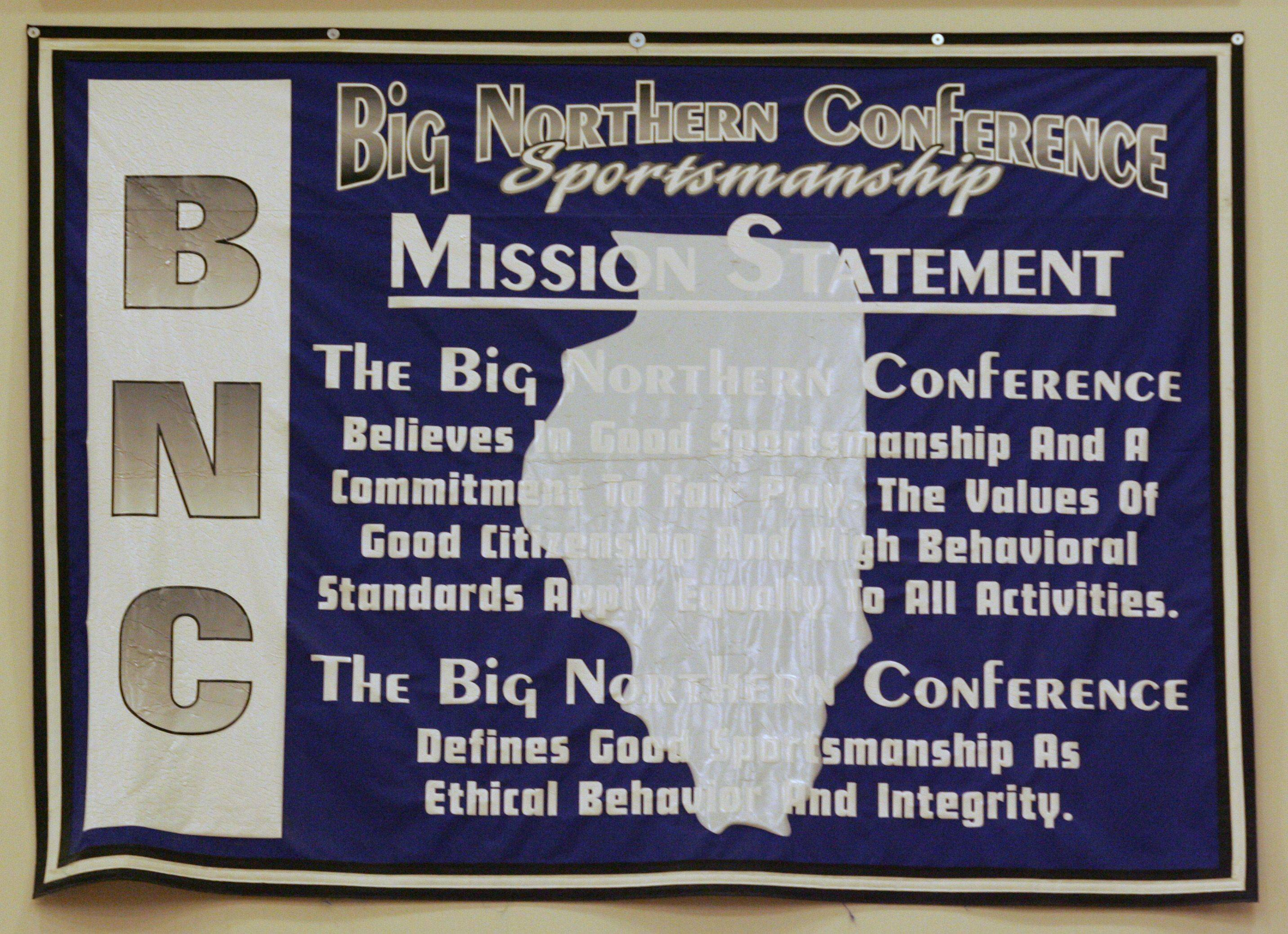 Another of the banners at Hampshire High School bearing the school's Big Northern Conference membership, which will change in the 2011-2012 school year when the Whip-Purs move to the Fox Valley Conference.