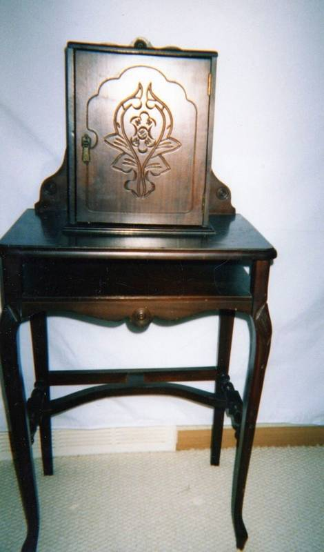 Though we first used telephones standing up, telephone tables paired with a  stool or bench - Treasures In Your Attic: Telephone Table History Parallels Phone Use