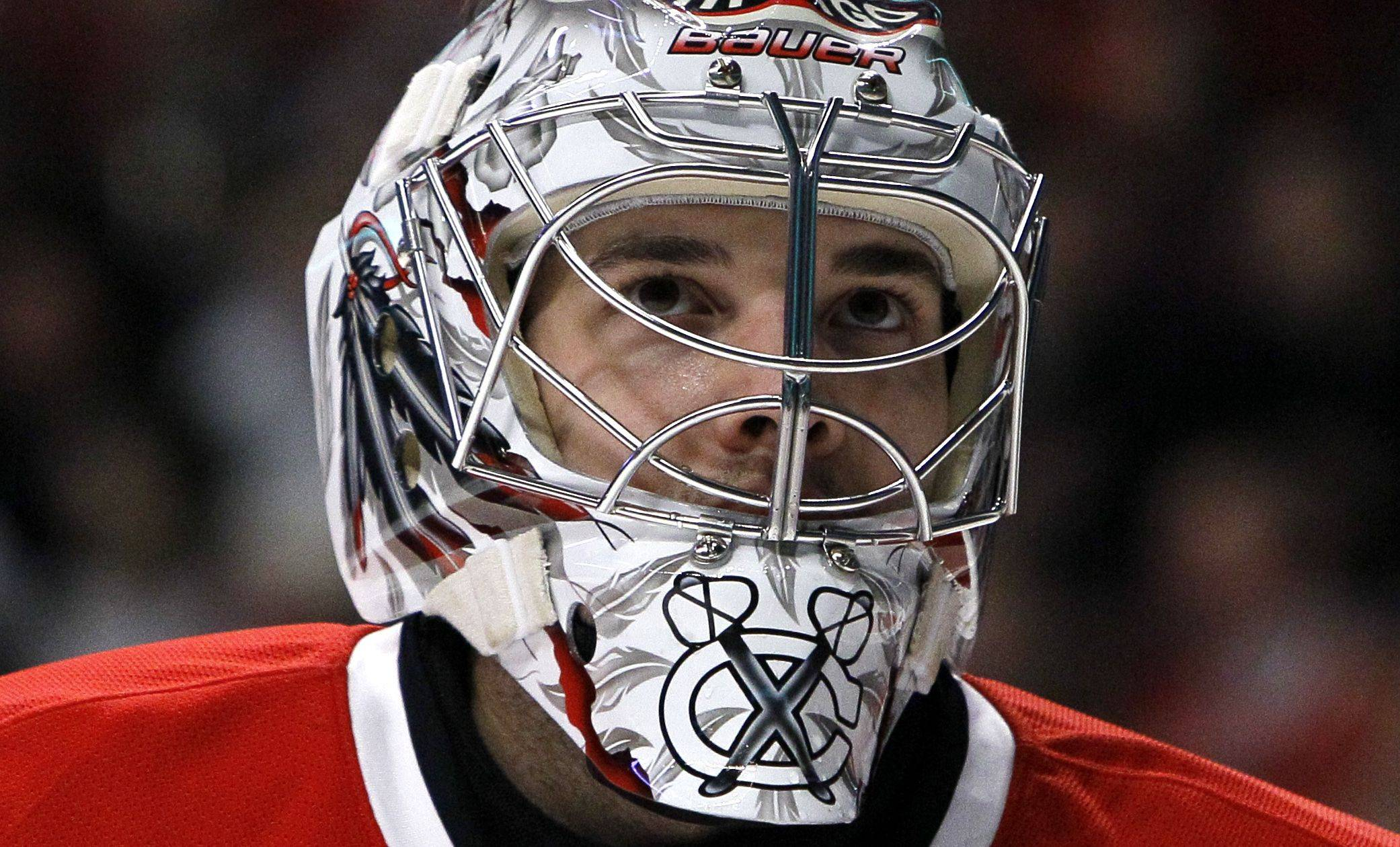 Blackhawks goalie Corey Crawford won 33 games as a rookie, but he isn't a finalist for the Calder Trophy.
