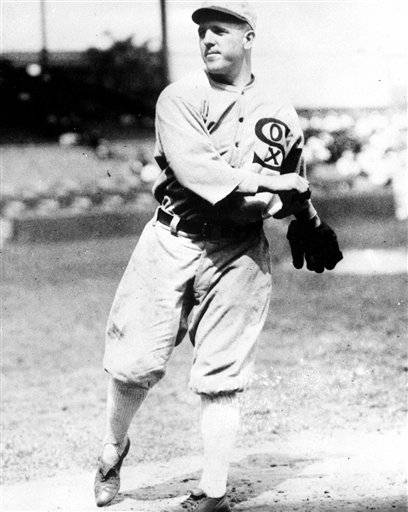 This undated file photo shows Chicago White Sox pitcher Eddie Cicotte.