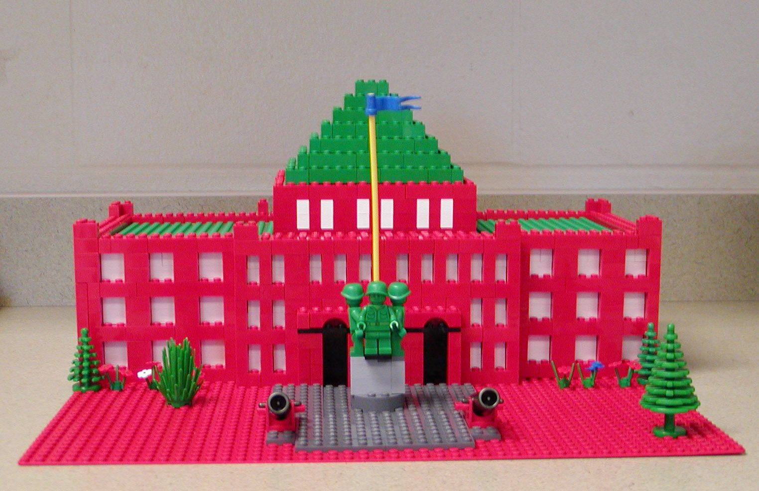 Jill Nippert's third-graders from Heartland Elementary School built this Lego replica of the Kane County Courthouse. It will be on display at the Geneva History Center.