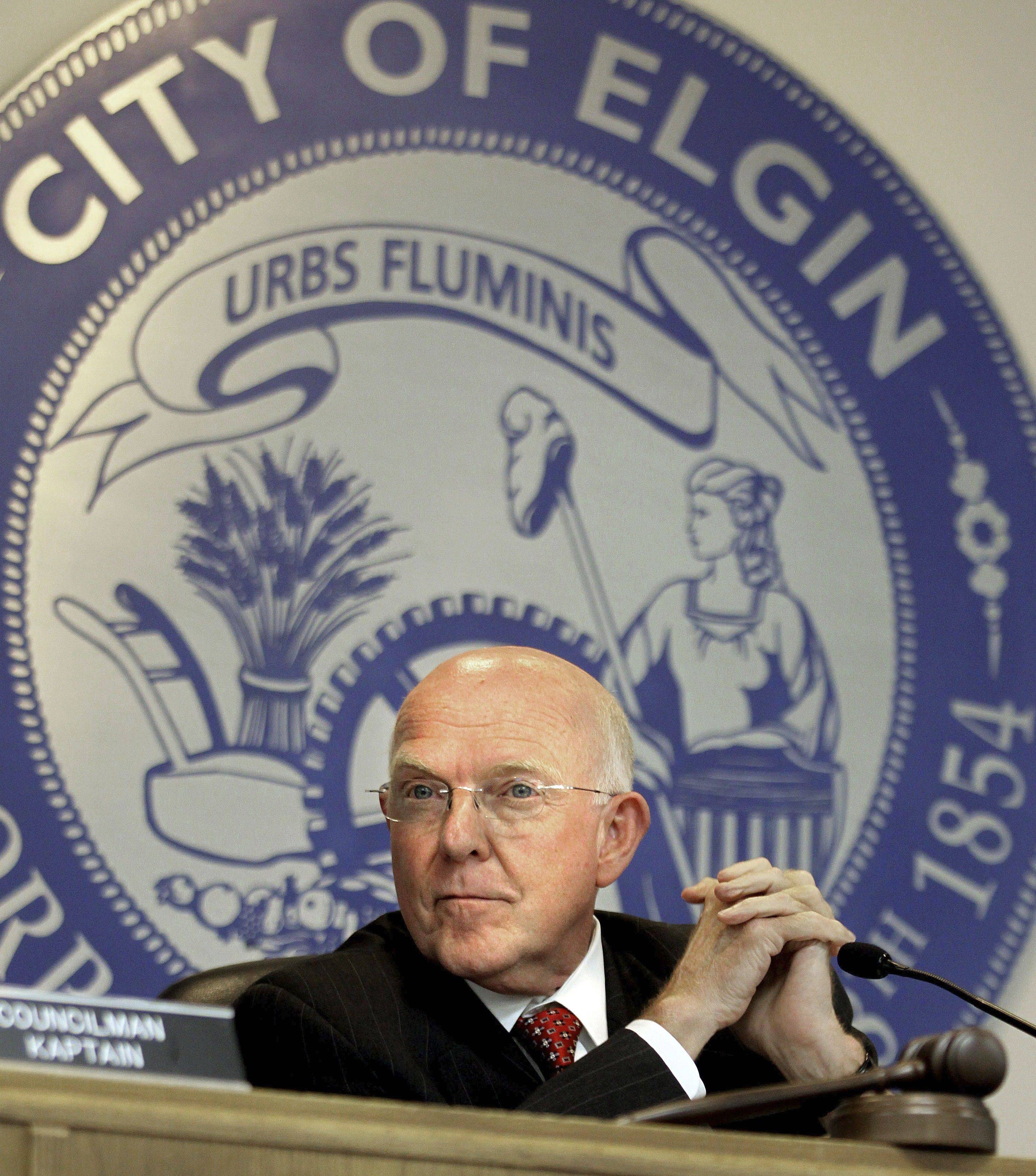 Elgin Mayor Ed Schock says his greatest accomplishment during his 12 years in office was changing the image of Elgin.