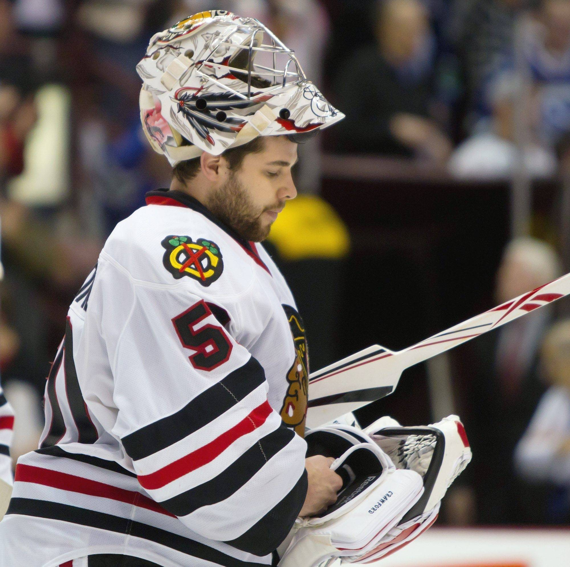 A top priority for the Hawks: Get restricted free-agent goalie Corey Crawford signed.