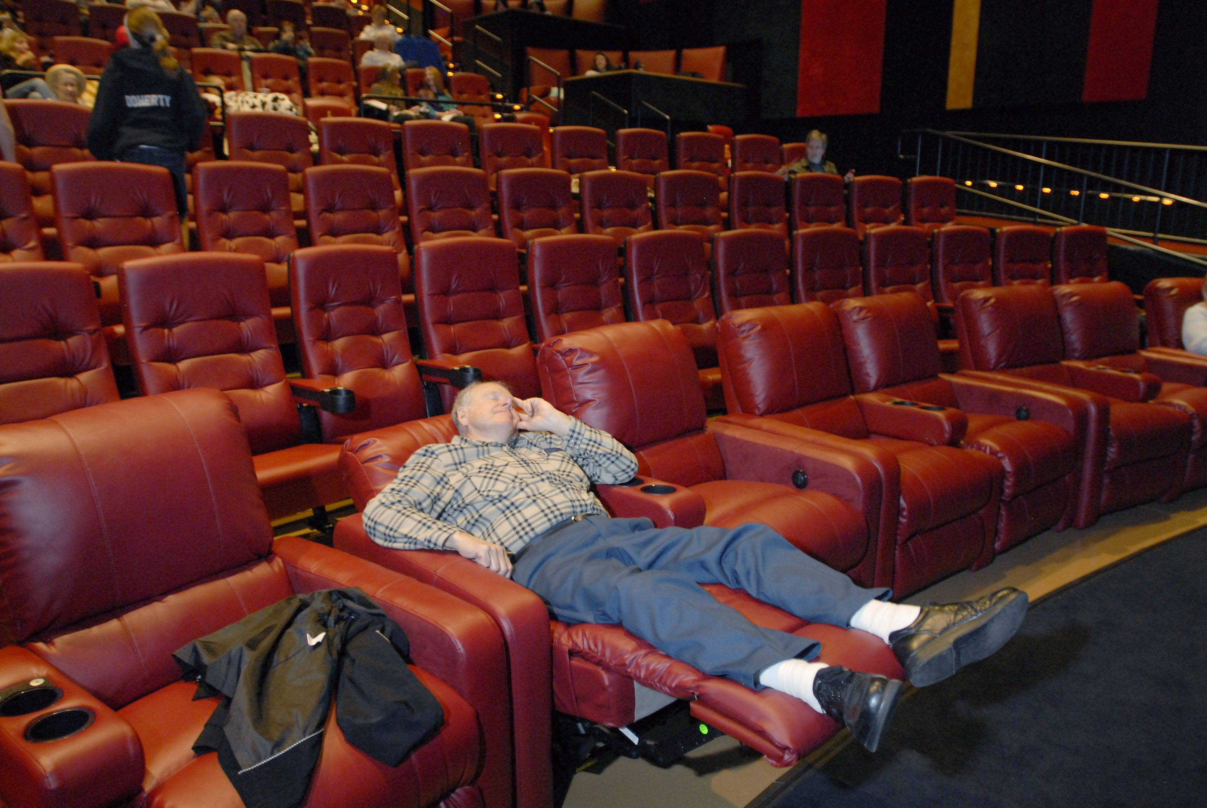 Fred Moeller catches a little shuteye while waiting for his wife to bring the tea and & Randhurst AMC Theaters open with royal fanfare islam-shia.org