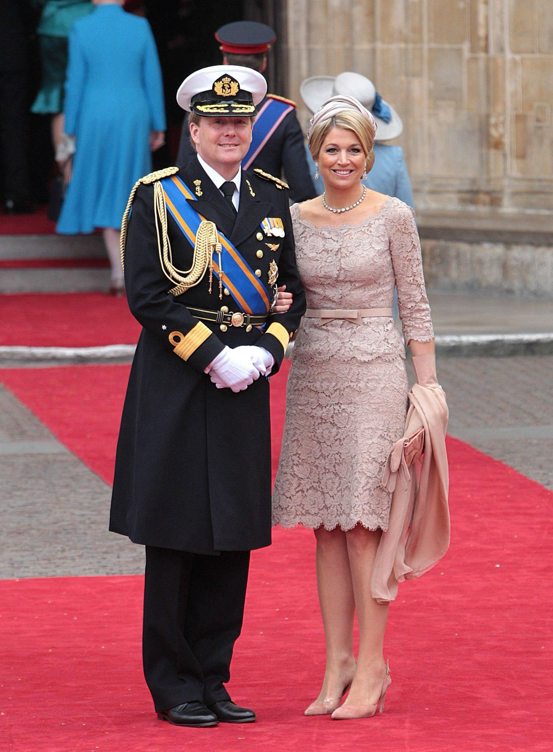 Netherlands' Crown Prince Willem-Alexander and Princess Maxima arrive at Westminster Abbey in London where Britain's Prince William and Kate Middleton will marry, Friday April 29, 2011.