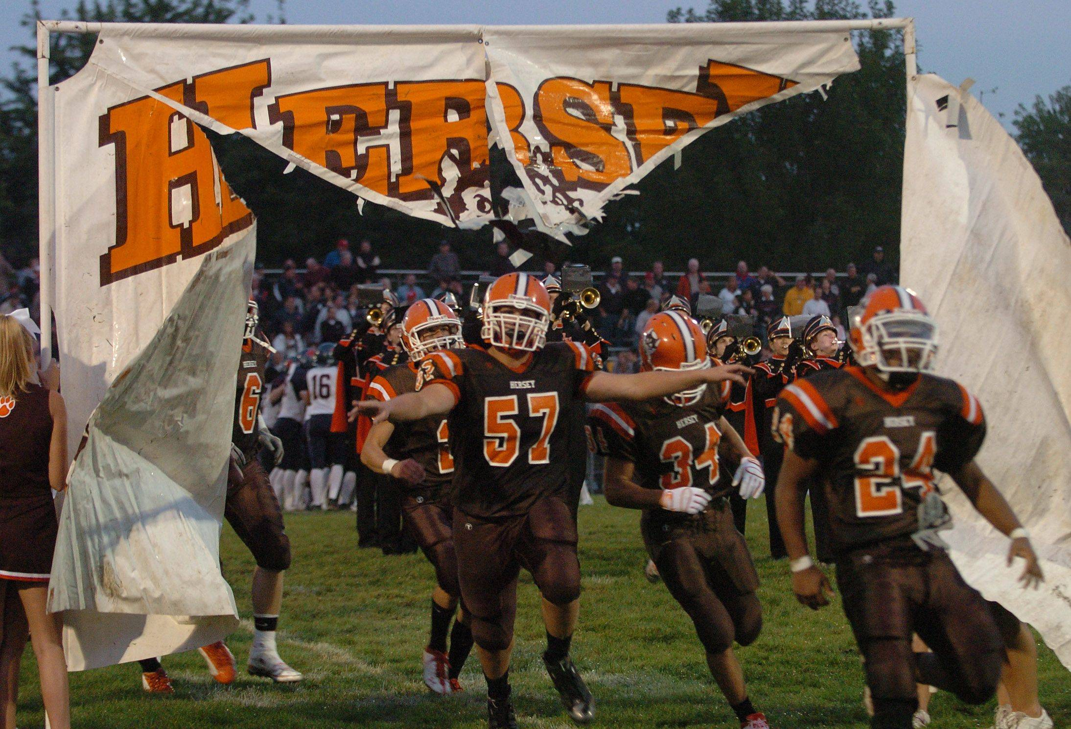 This fall, Hersey's football team will play on a turf field.