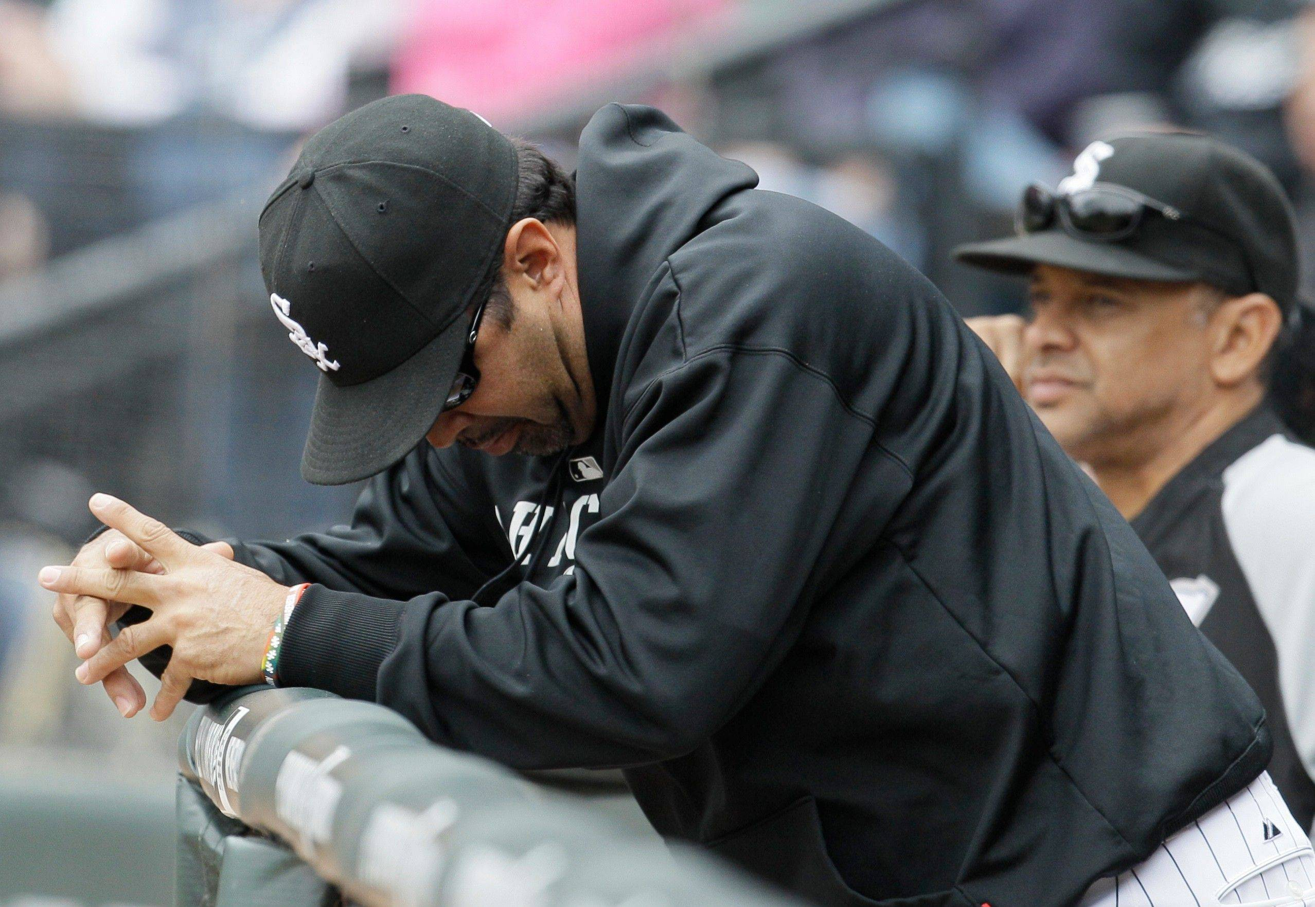 Manager Ozzie Guillen is looking for any silver lining he can find as the White Sox' slump hits alarming proportions.
