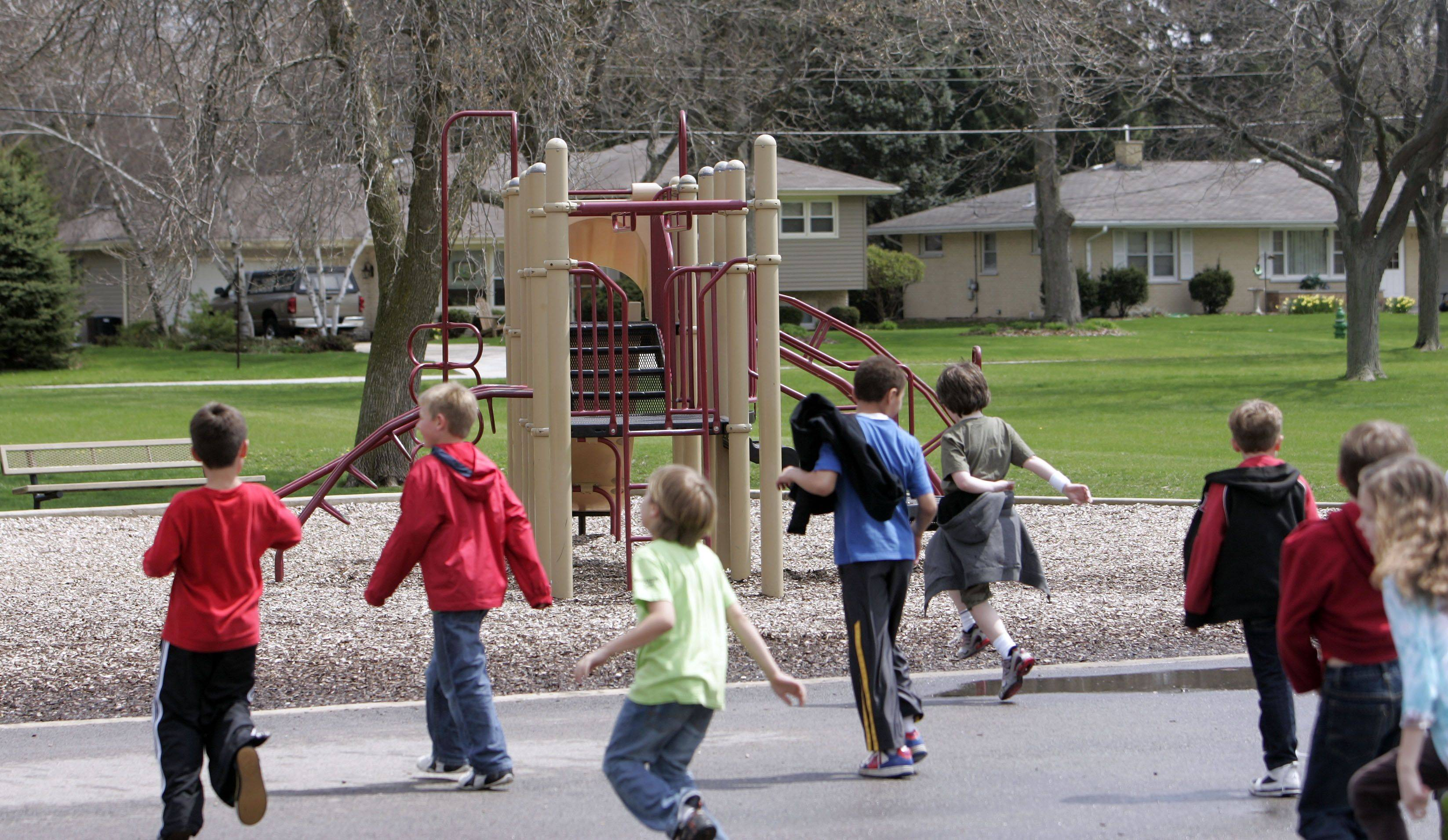 This playground at H.C. Storm School in Batavia will have some of its older equipment replaced using funds from the $10,000 grant the elementary school received. Principal Cynthia Sikorski hopes to have the work completed by the end of June.
