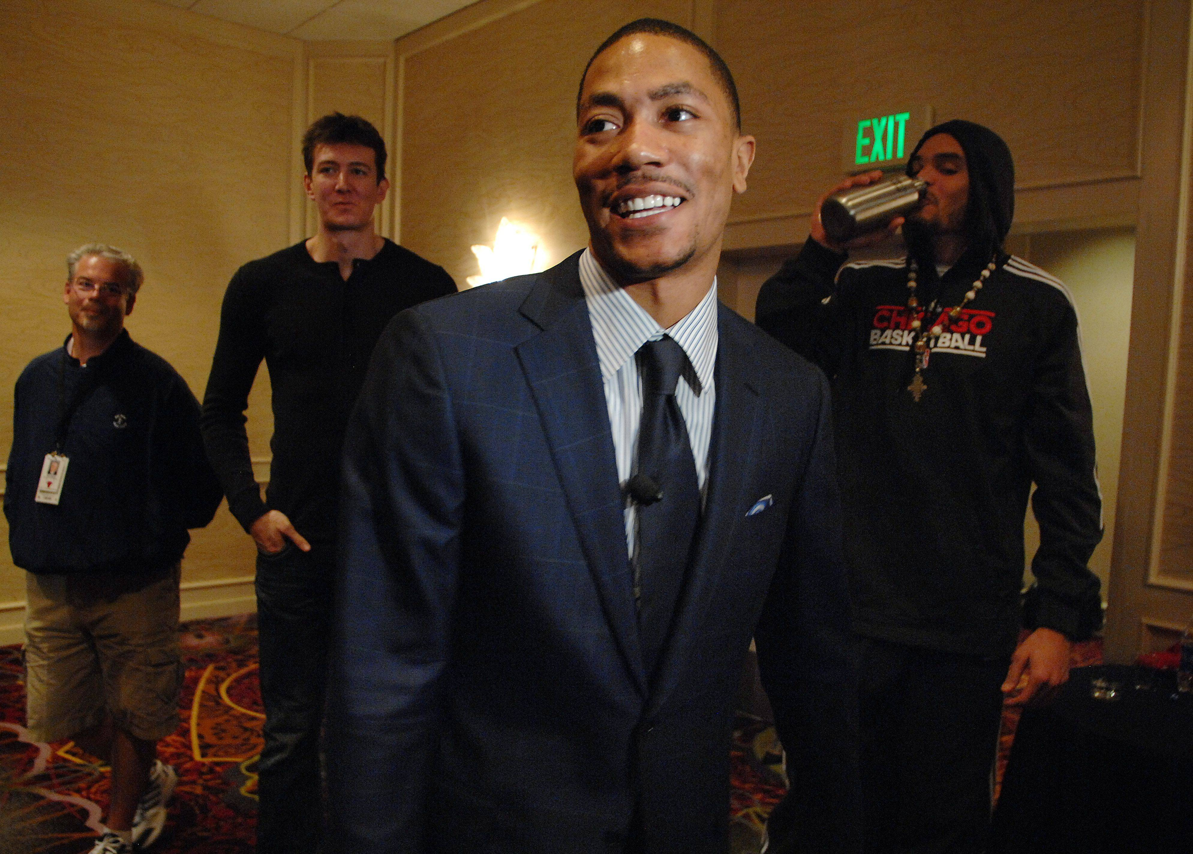 Derrick Rose is named as the NBA's MVP in Lincolnshire on Tuesday.