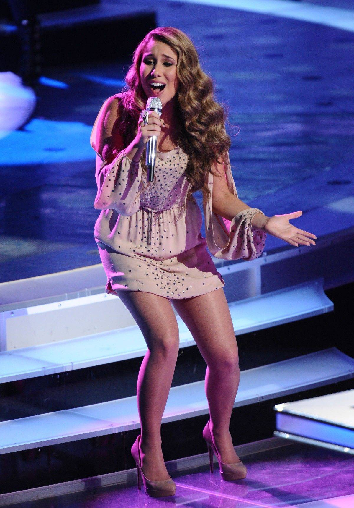 "Haley Reinhart, seen here performing last week, wowed the judges Wednesday with her rendition of ""House of the Rising Sun."""