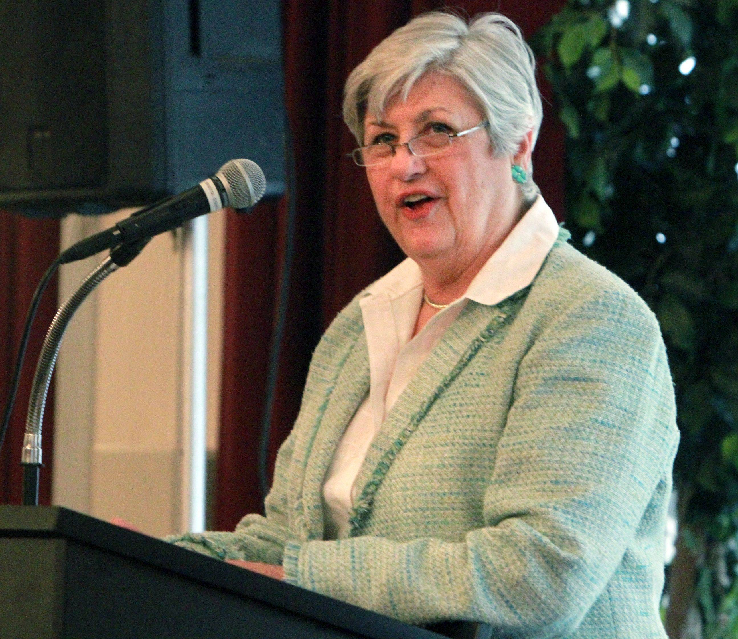 Mt. Prospect Mayor Irvana Wilkson speaks at the 12th Annual Mayor�s Prayer Breakfast.