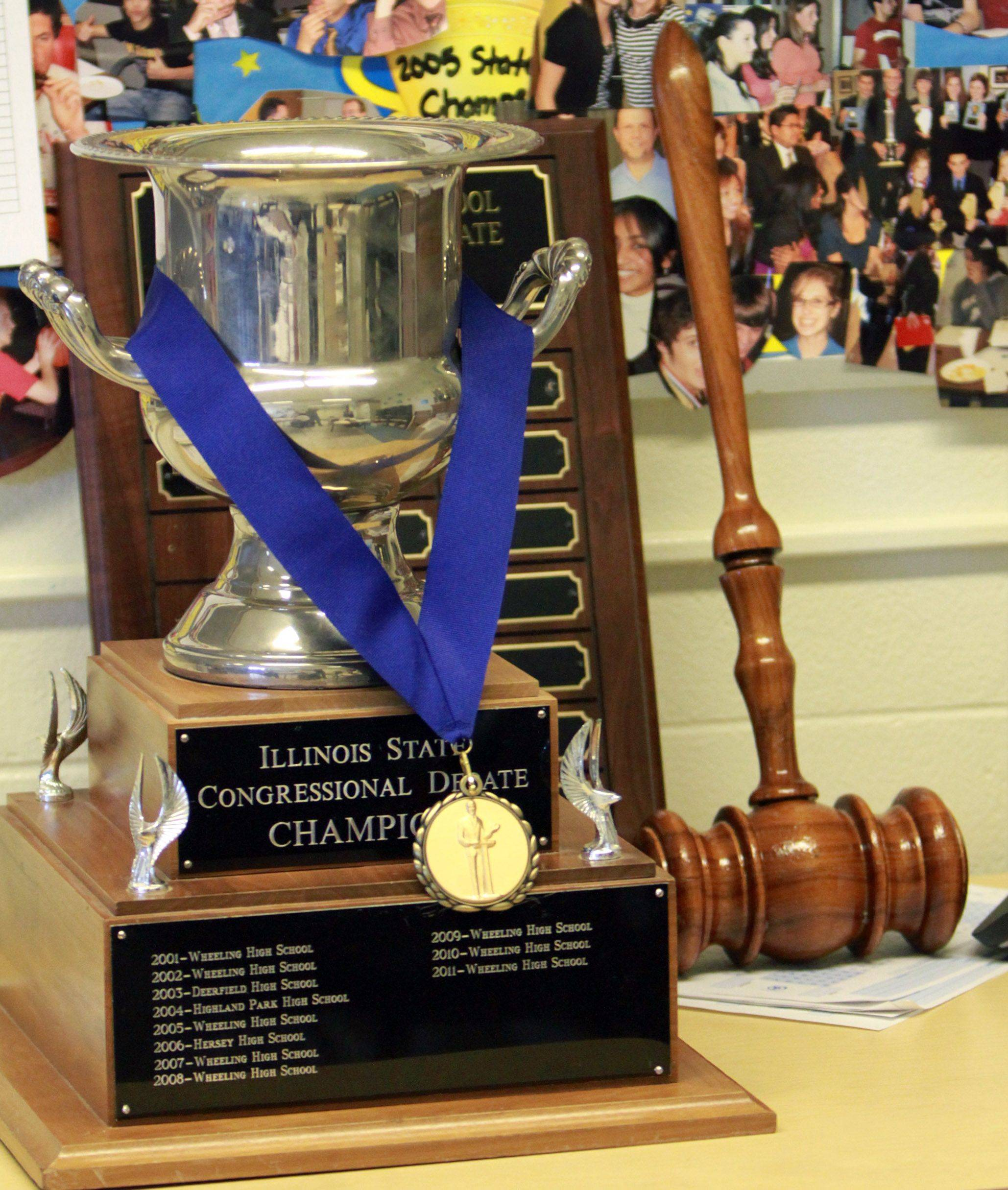 George LeClaire/gleclaire@dailyherald.comWheeling High School's debate team has won the state championship five years in a row and has claimed the state trophy 10 of the last 15 years.