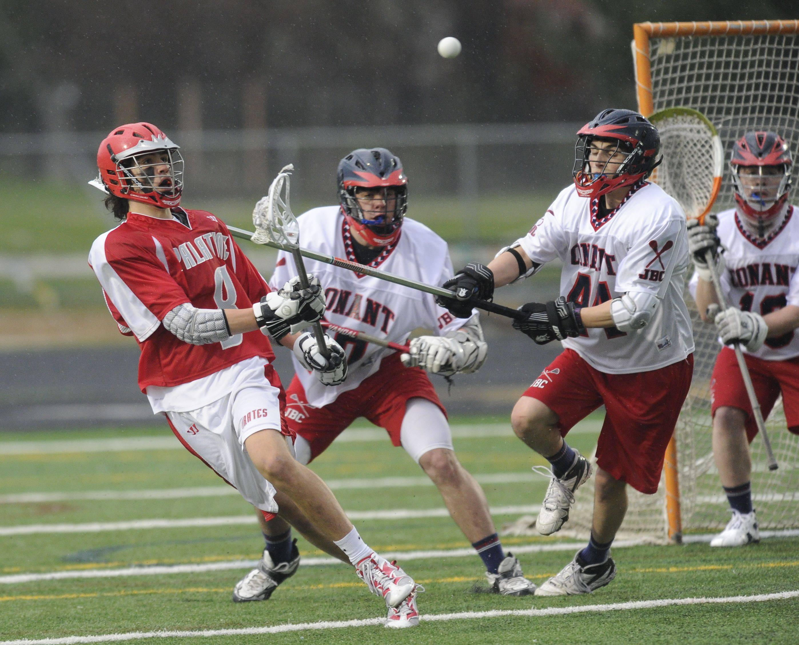 Images from the boys varsity lacrosse game, Conant vs Palatine at Conant High School on May 5, 2011.