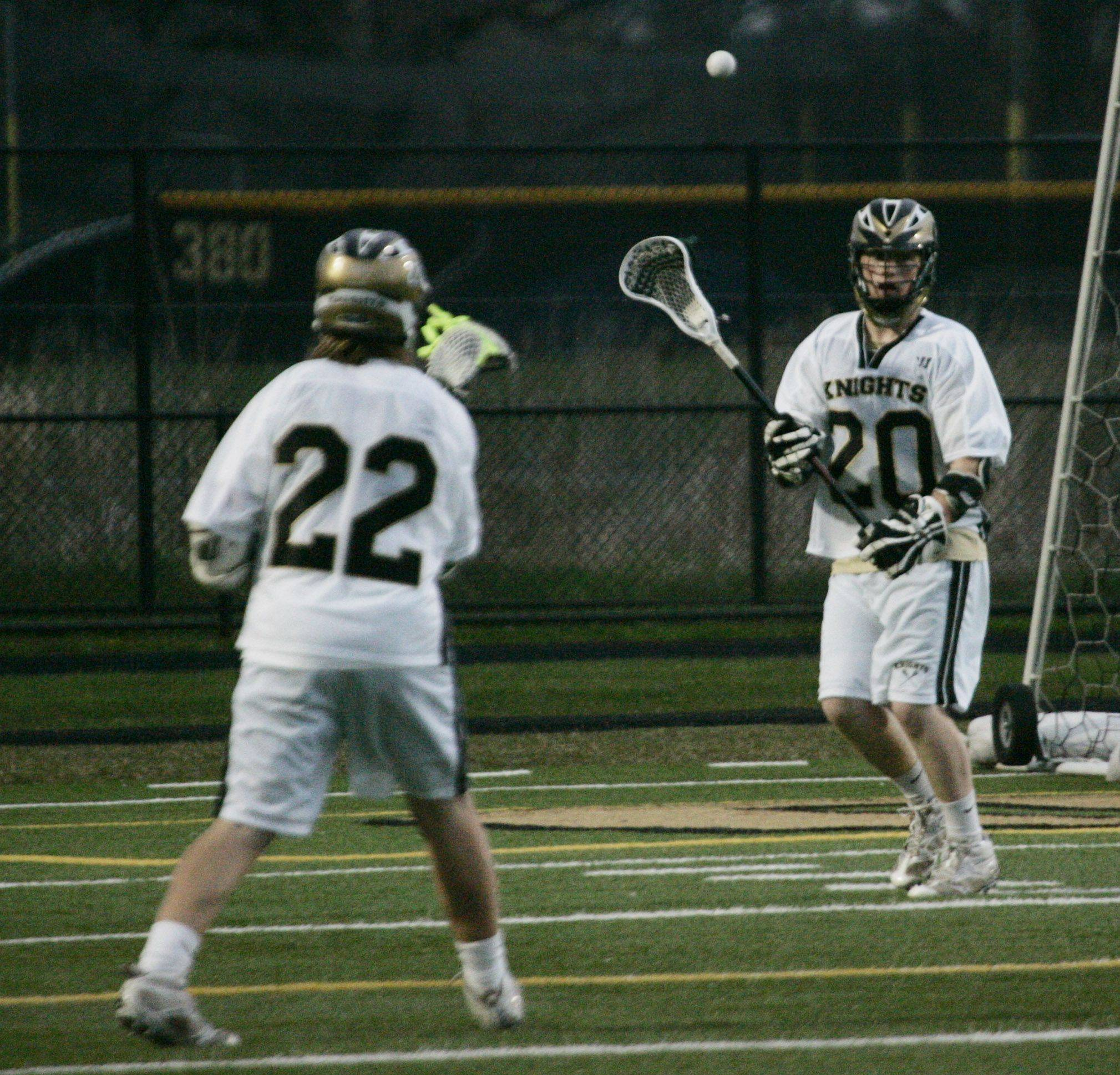 Grayslake Central battles Grayslake North in boys lacrosse Thursday, May 5, at Grayslake North High School.