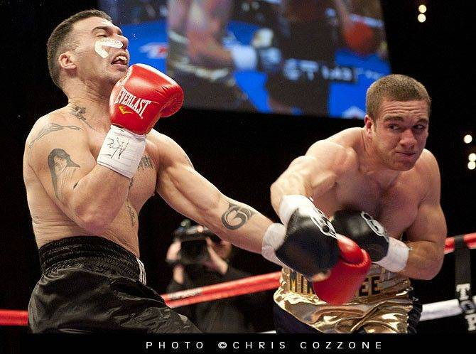 Notre Dame boxing champion Mike Lee of Wheaton scored a resounding first-round TKO over light heavyweight Pablo Gomez in Las Vegas on Feb. 26, 2011. Lee fights again on Friday night in an undercard bout on ESPN.