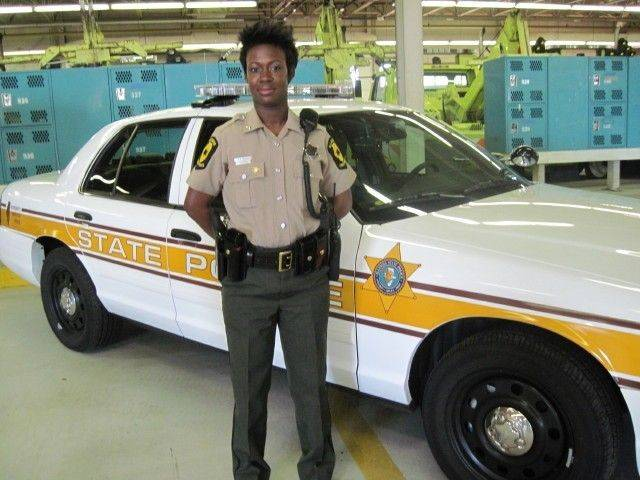 State Trooper Starlena Wilson is back on the job after a distracted driver severely injured her in 2010.