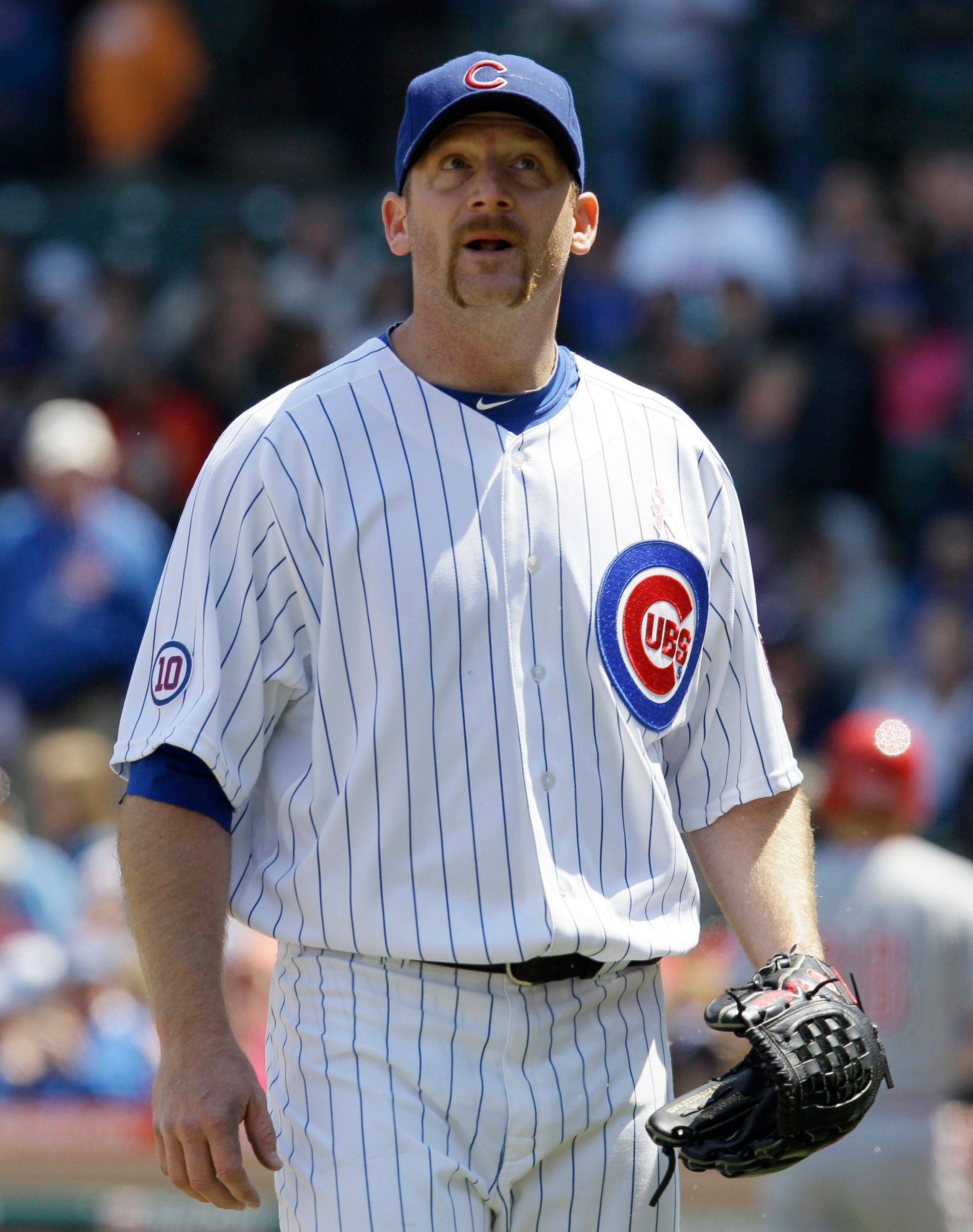 Cubs starter Ryan Dempster worked 7 strong innings Sunday at Wrigley Field, but he got no help from his offense in a 2-0 loss.