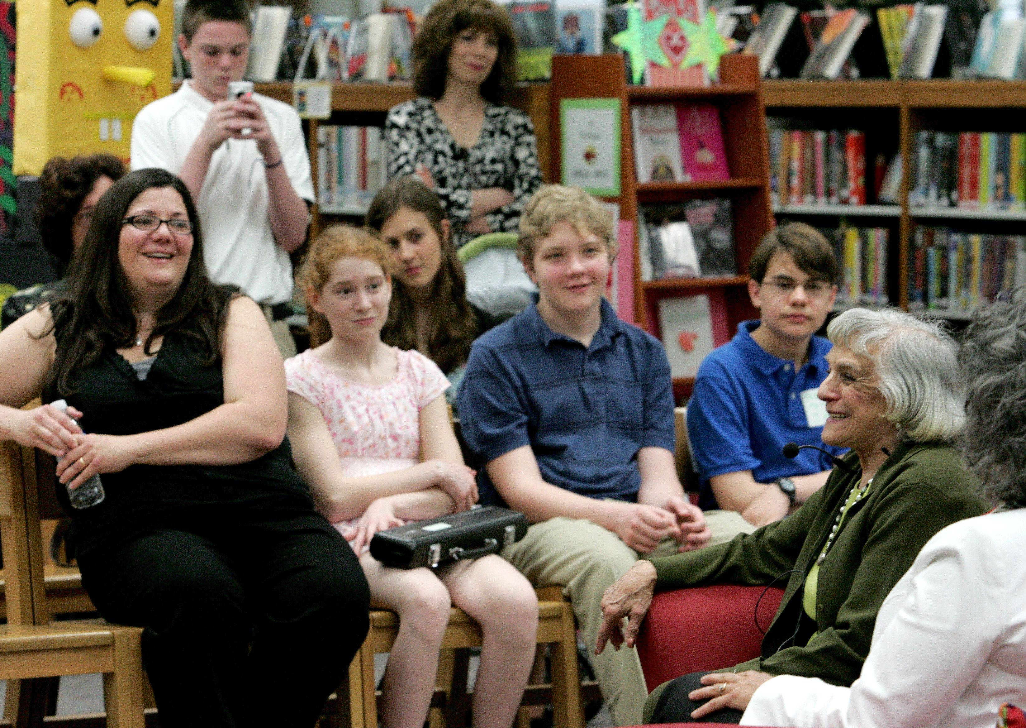 Edith Westerfeld thanked Madison Junior High School eighth graders Friday for reconnecting her with a long-lost friend.