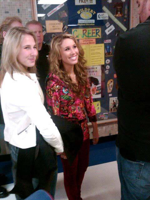 Haley Reinhart, right, and her sister Angie., May 14, 2011.