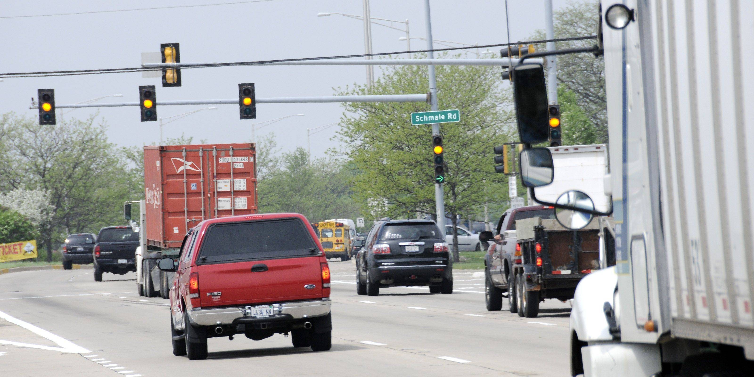 Carol Stream is one of the municipalities asking DuPage County for permission to install red-light cameras at intersections such as Schmale Road and North Avenue that are under the county's jurisdiction.