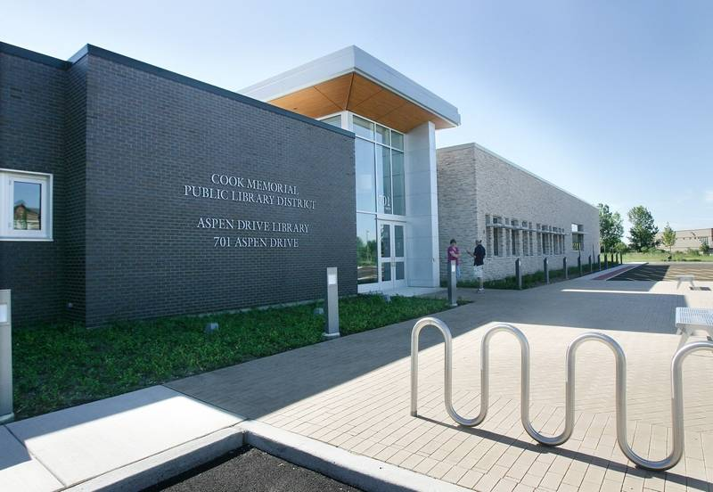 The Cook Memorial Public Library District's Aspen Drive Library in Vernon  Hills opened last year,