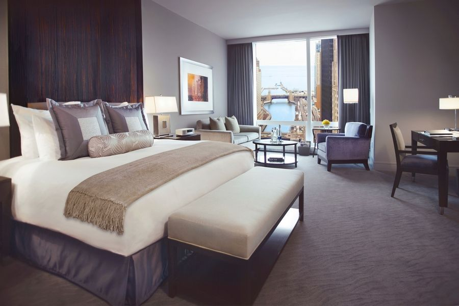"Photo courtesy of Trump International Hotel & TowerA room with a gorgeous view of the Chicago River and Lake Michigan is included as part of the new ""Kids in the City"" package from Trump International Hotel & Tower in Chicago."