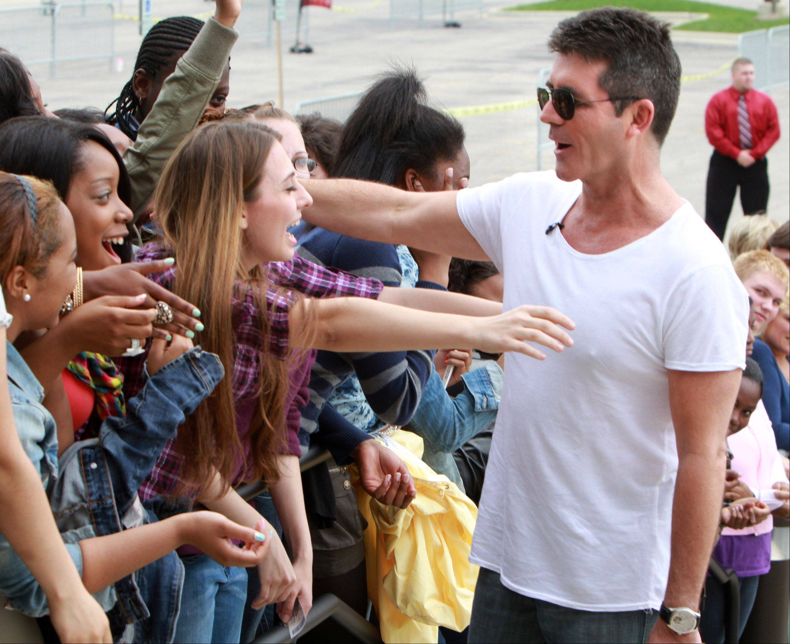 Images: Simon, Paula and the X Factor auditions in Hoffman Estates
