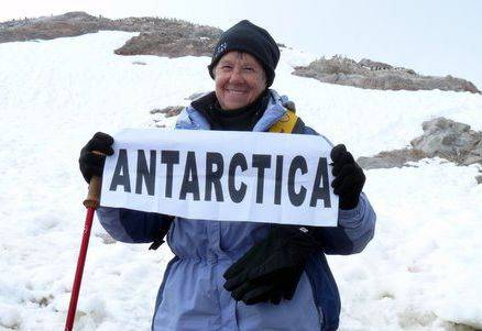 Once Sandi Wilcox reached Antarctica, she realized her goal of visiting all seven continents.