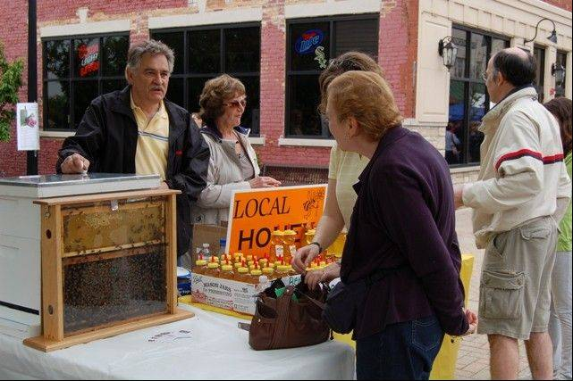 Local honey always sells out at Blooming Fest.