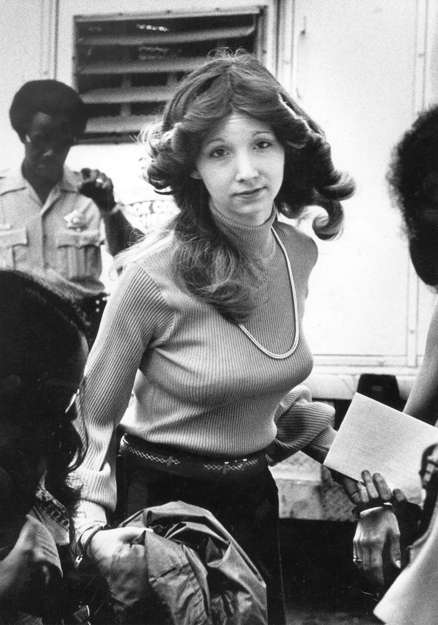 Patricia Columbo leaves Cook County Circuit Court in Chicago in 1977 after her conviction of the murder of her father, mother and brother.