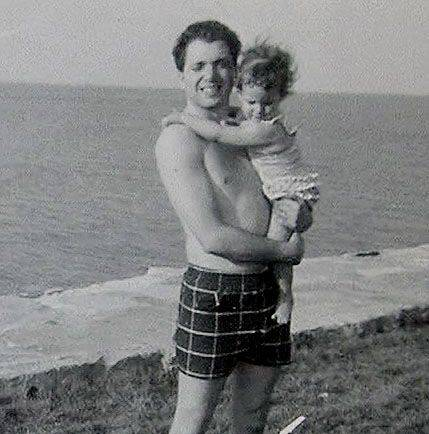 Patricia Columbo as a child with her father Frank. Patty was convicted of murdering her family on May 7th, 1976 at their Elk Grove home.