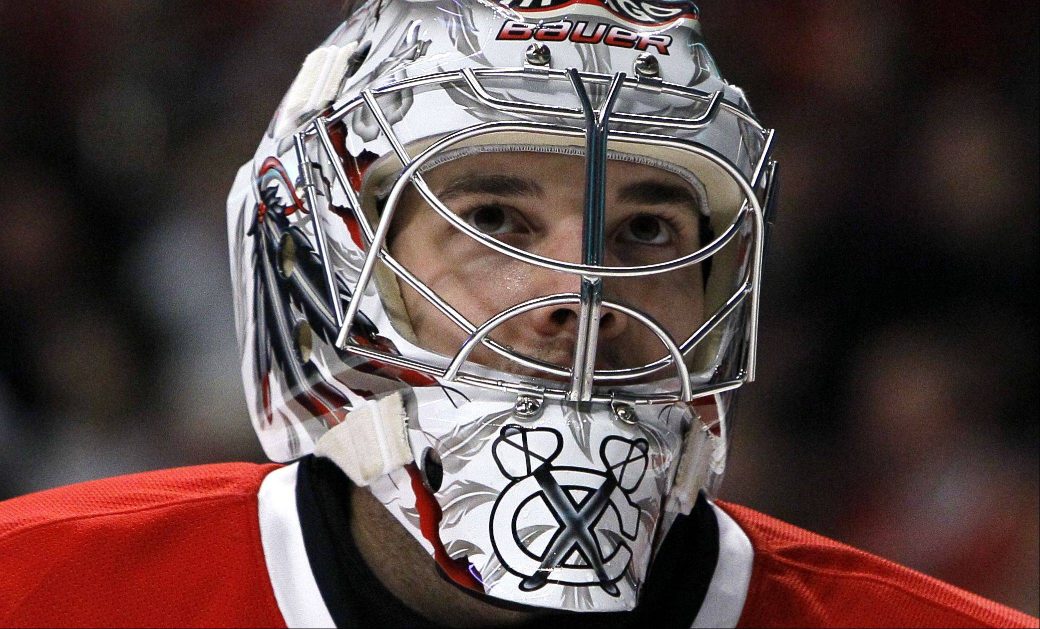 After an outstanding rookie season, Blackhawks goalie Corey Crawford has signed a three-year contract with the team worth a total of $8 million.
