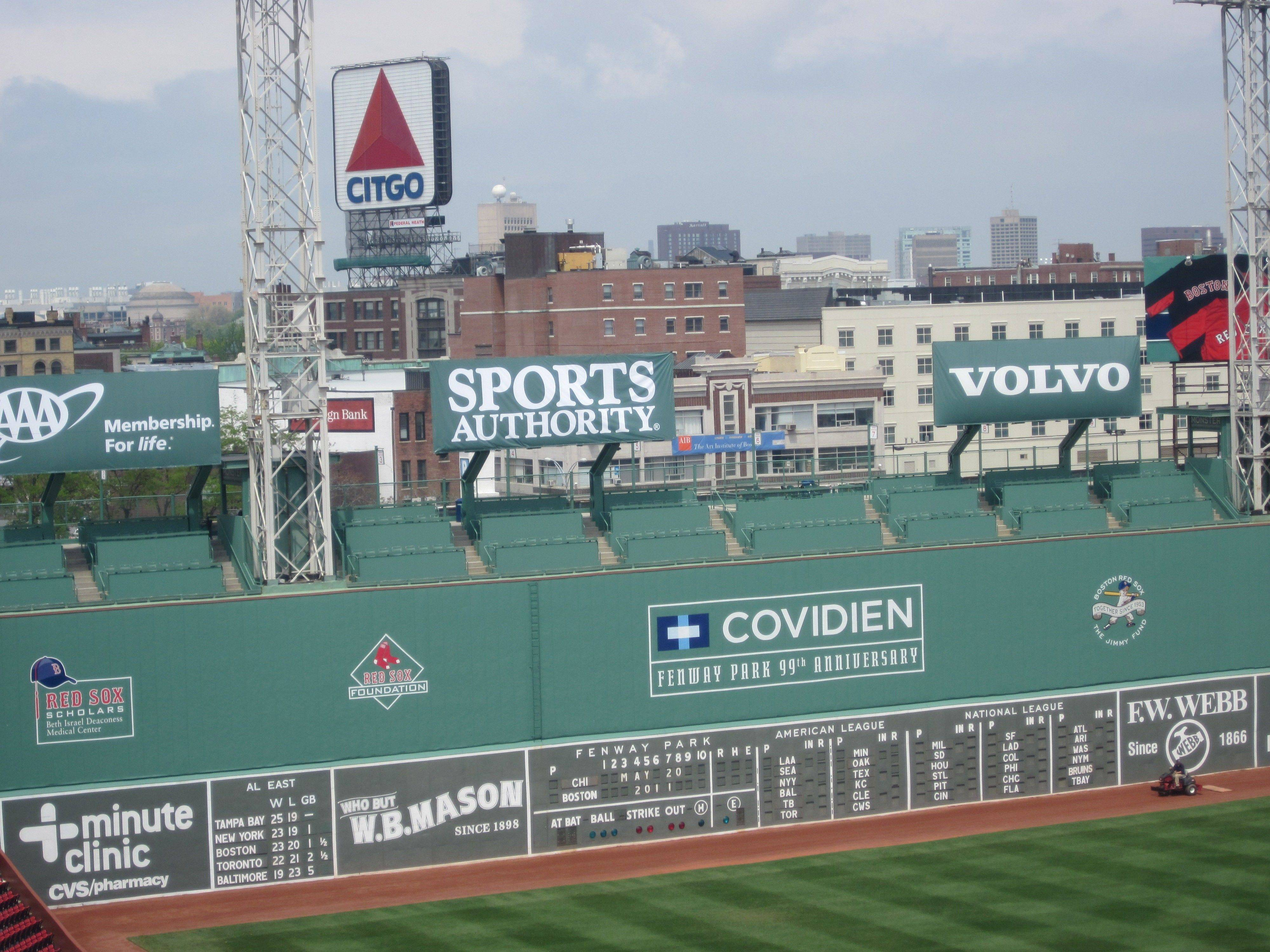 Here's a look at the Green Monster in Fenway Park, where the Cubs and Red Sox met on Friday, May 20, for the first time since the 1918 World Series.