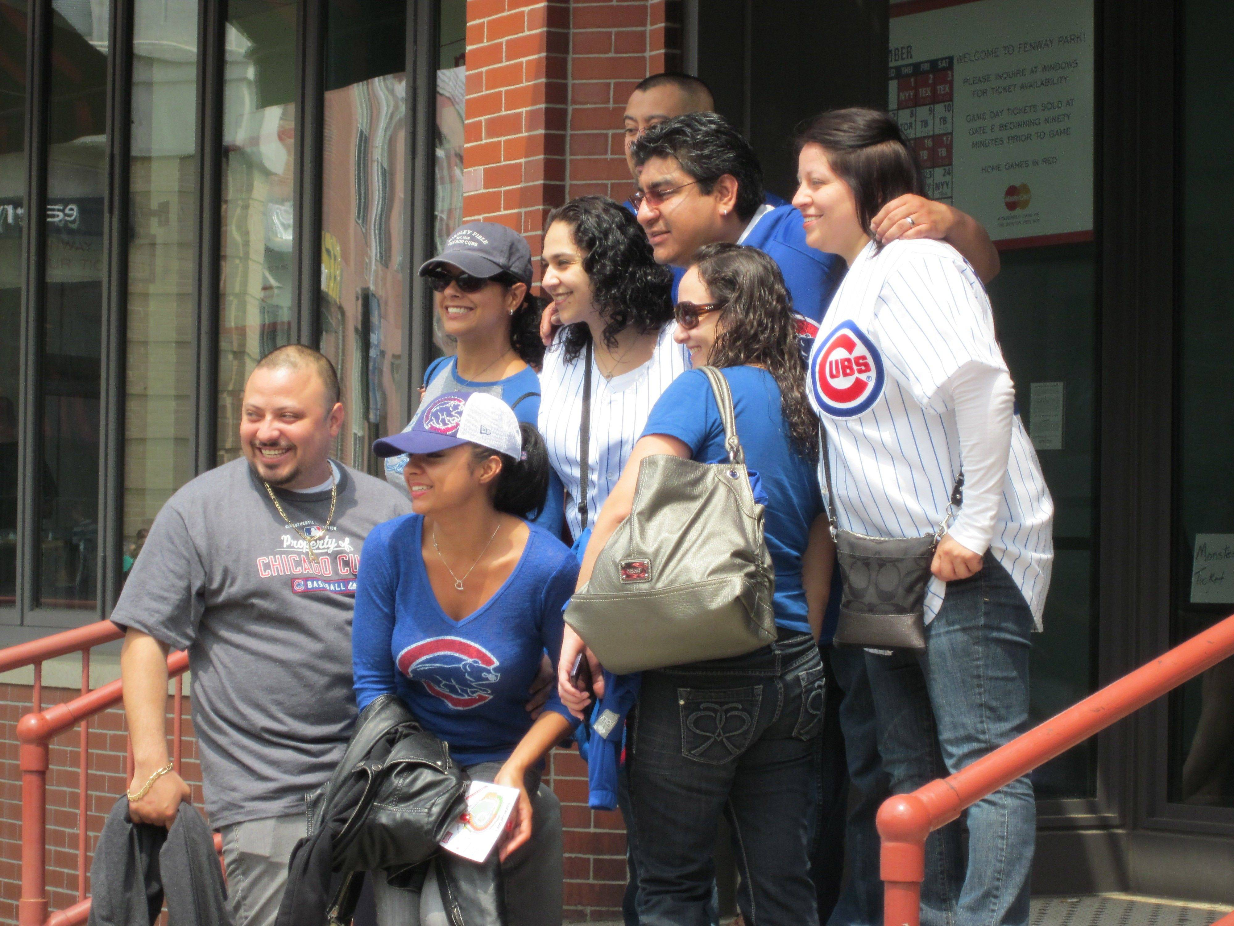 Cubs fans were everywhere Friday outside of Fenway Park, where the Cubs and Red Sox met on Friday, May 20, for the first time since the 1918 World Series.