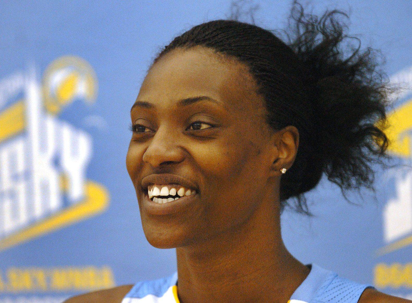 Sky center Sylvia Fowles during media day for Chicago Sky.
