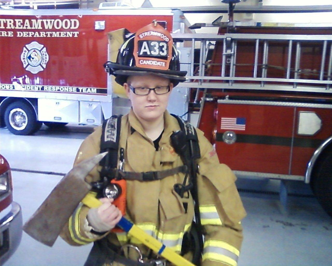 Shelby Williams recently toured a Streamwood fire station, en route to her dream of becoming a firefighter.