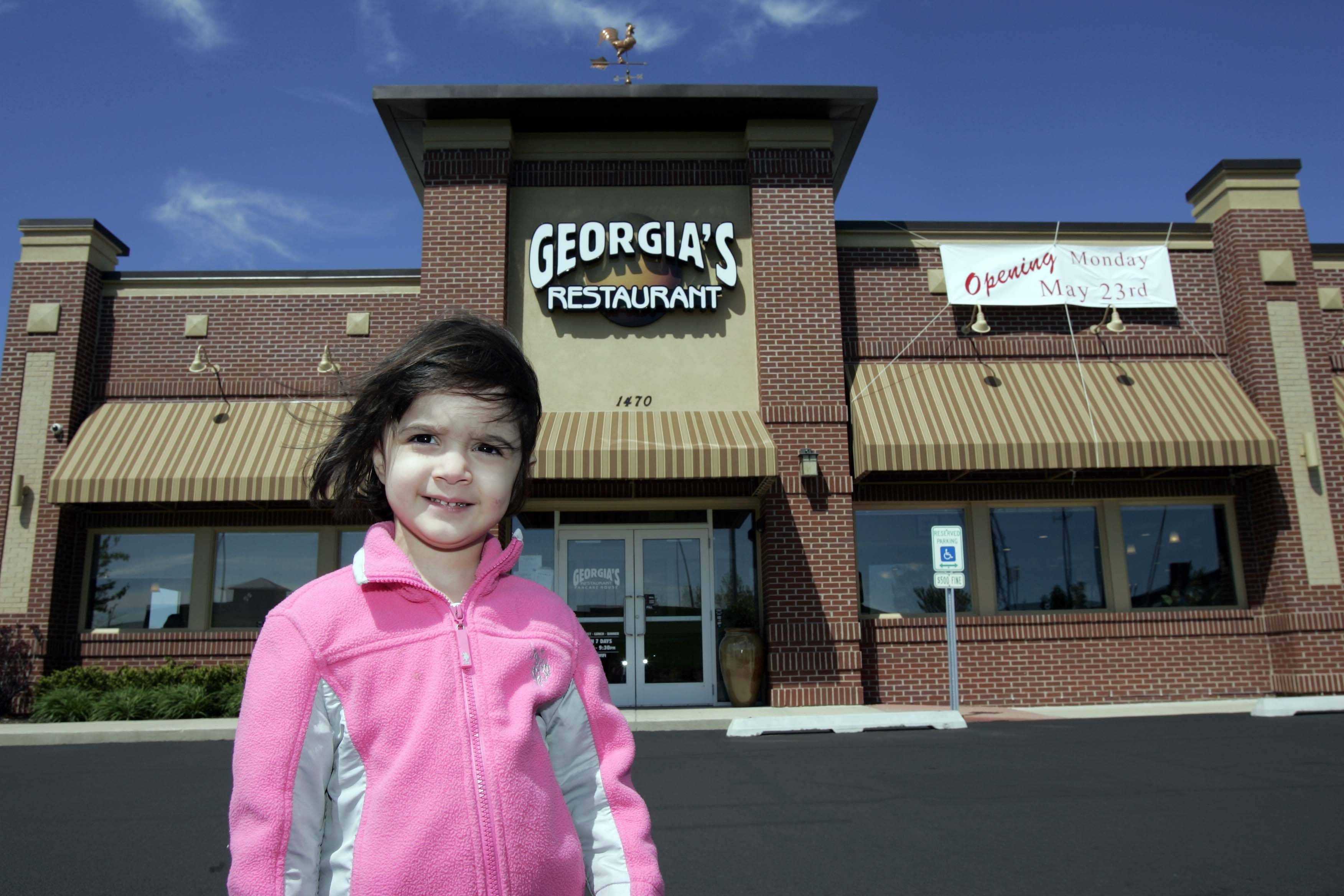 Georgia's Restaurant is named after Georgia Kulubis, who will turn 3 in July. The Algonquin eatery opened Monday.