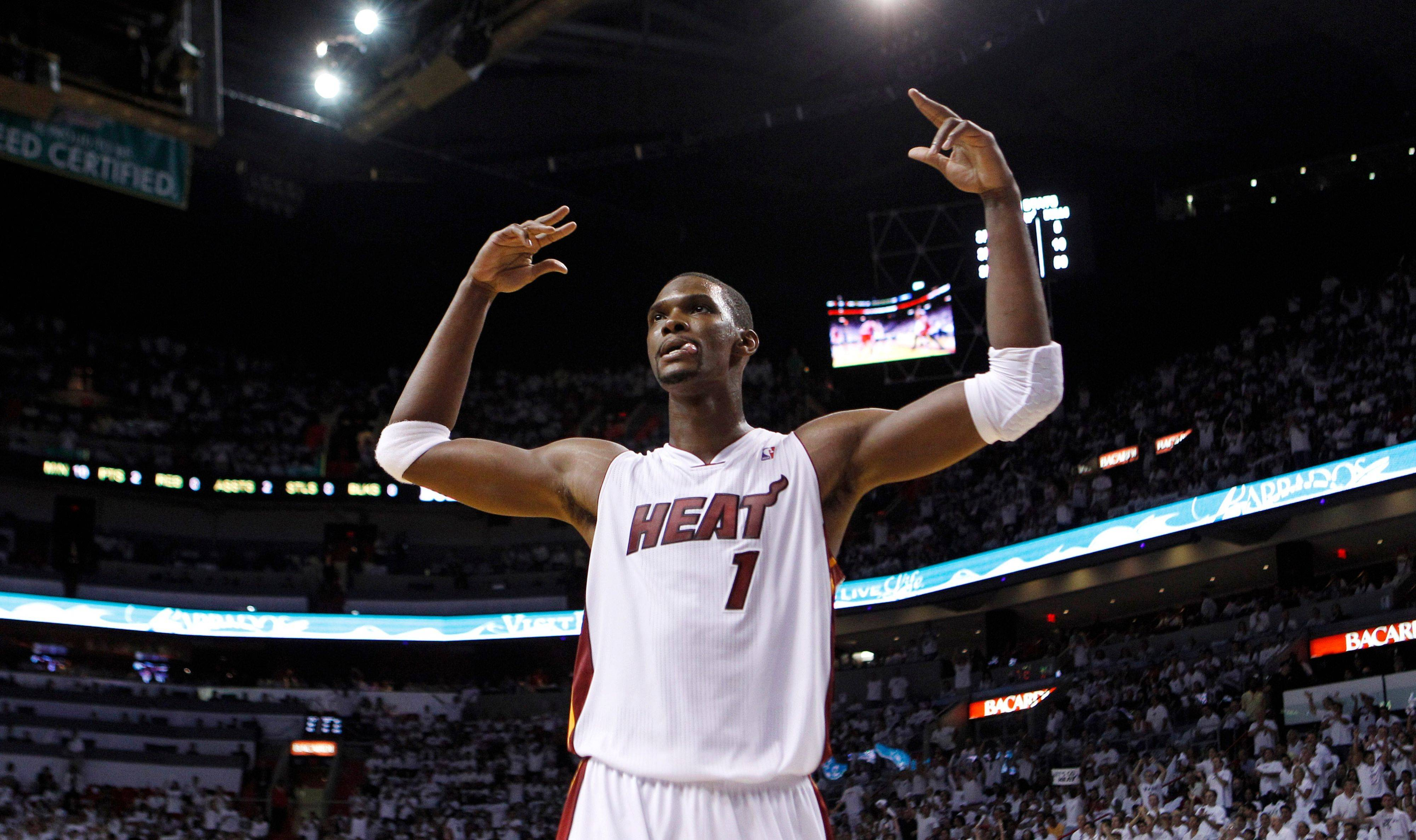 Miami's Chris Bosh is getting plenty of attention after his dominating performance in Game 3 of the NBA Eastern Conference finals basketball series. The Heat remains unbeaten at home in the playoffs with Game 4 on Tuesday.