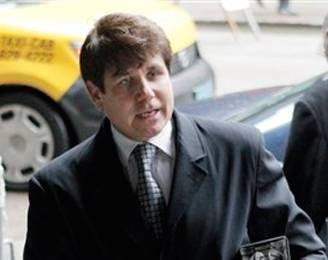 Rod Blagojevich arrives at court this morning.