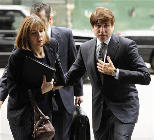 Rod Blagojevich and wife Patti arrive at federal court earlier this month.