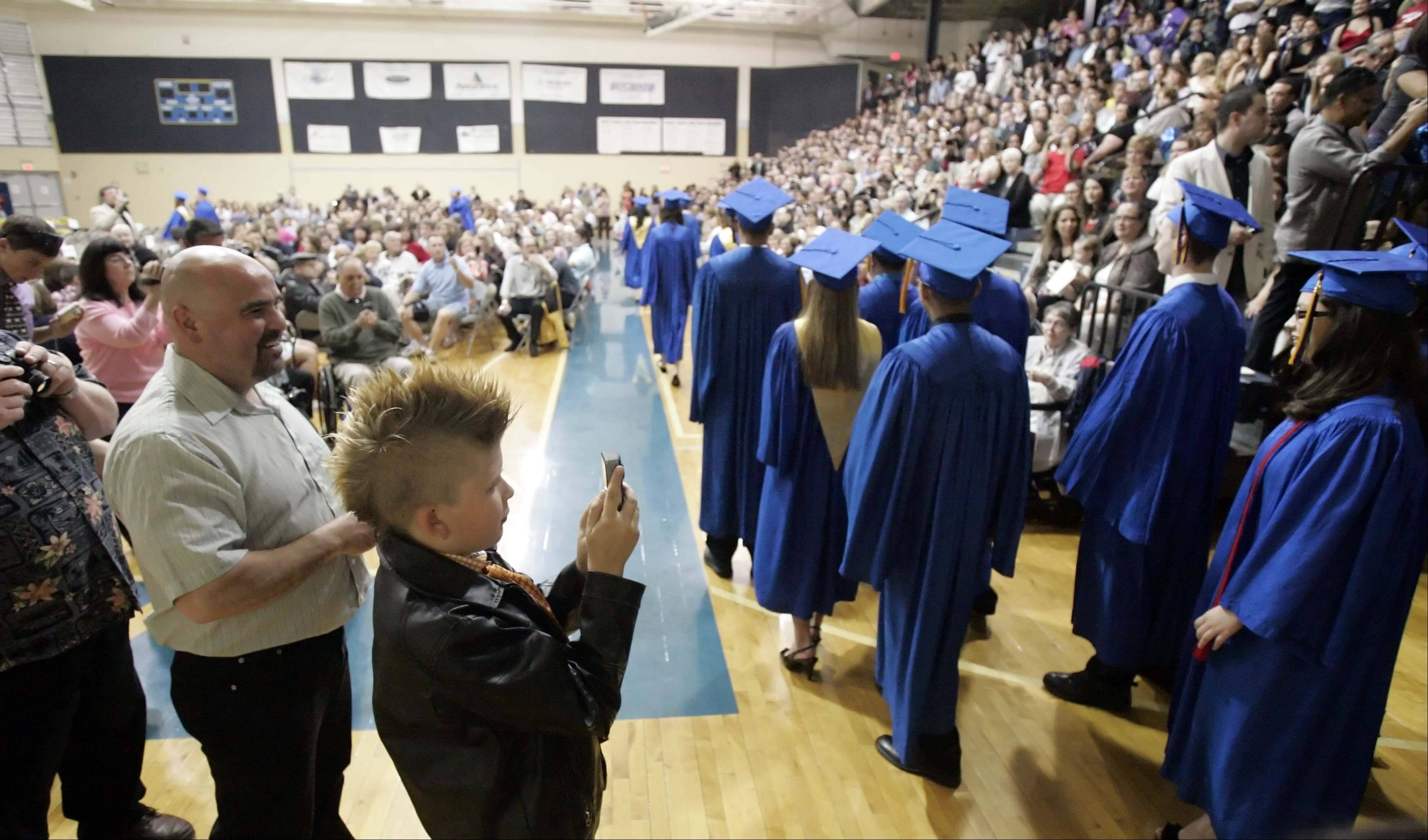 Images from the graduation ceremony at Aurora Central Catholic High School Thursday, May 26, 2011.