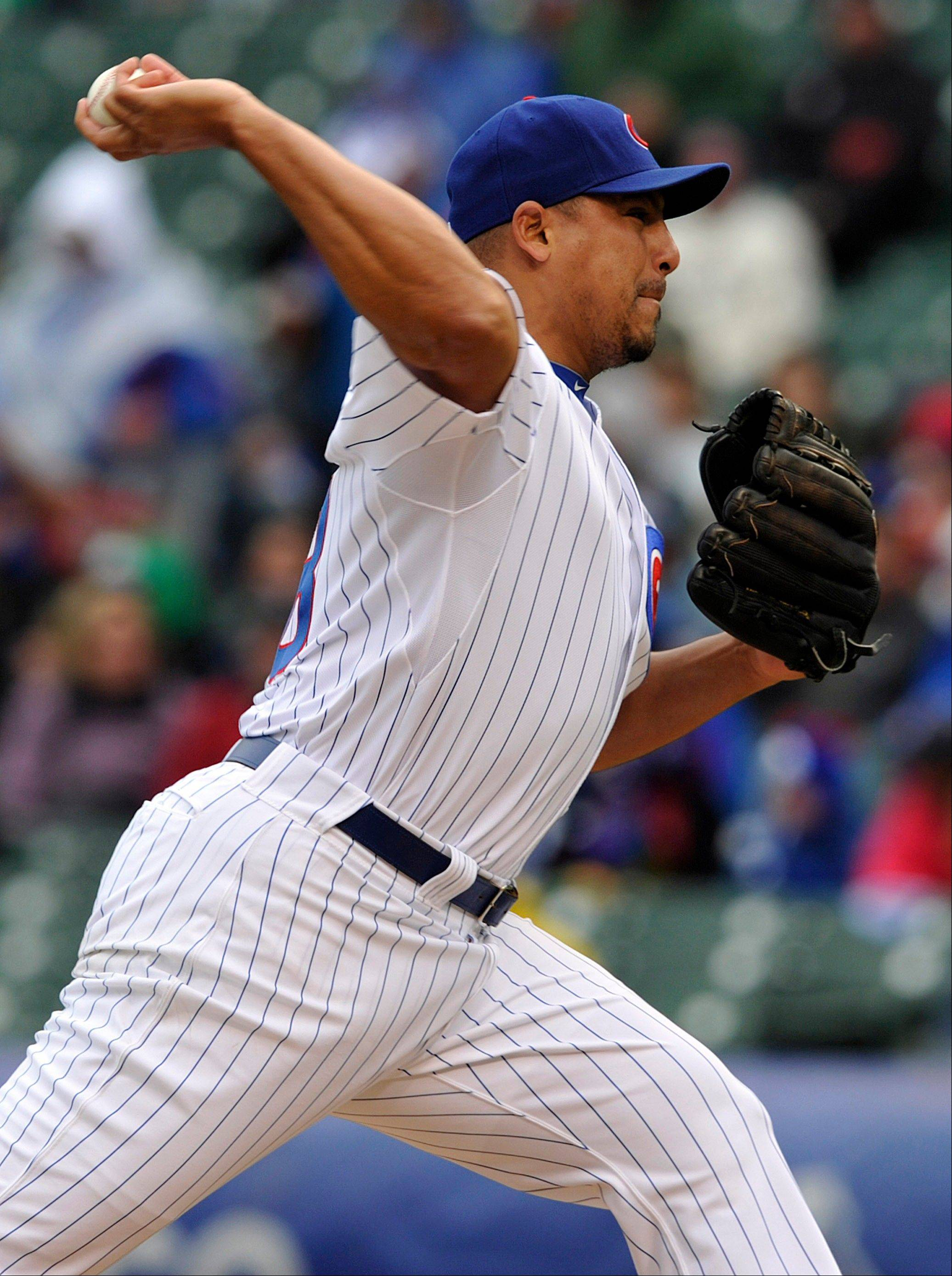 Cubs starter Carlos Zambrano works against the Mets on Thursday.