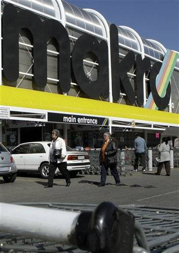 Makro wholesale outlet in Johannesburg, South Africa is part of the Massmart chain.