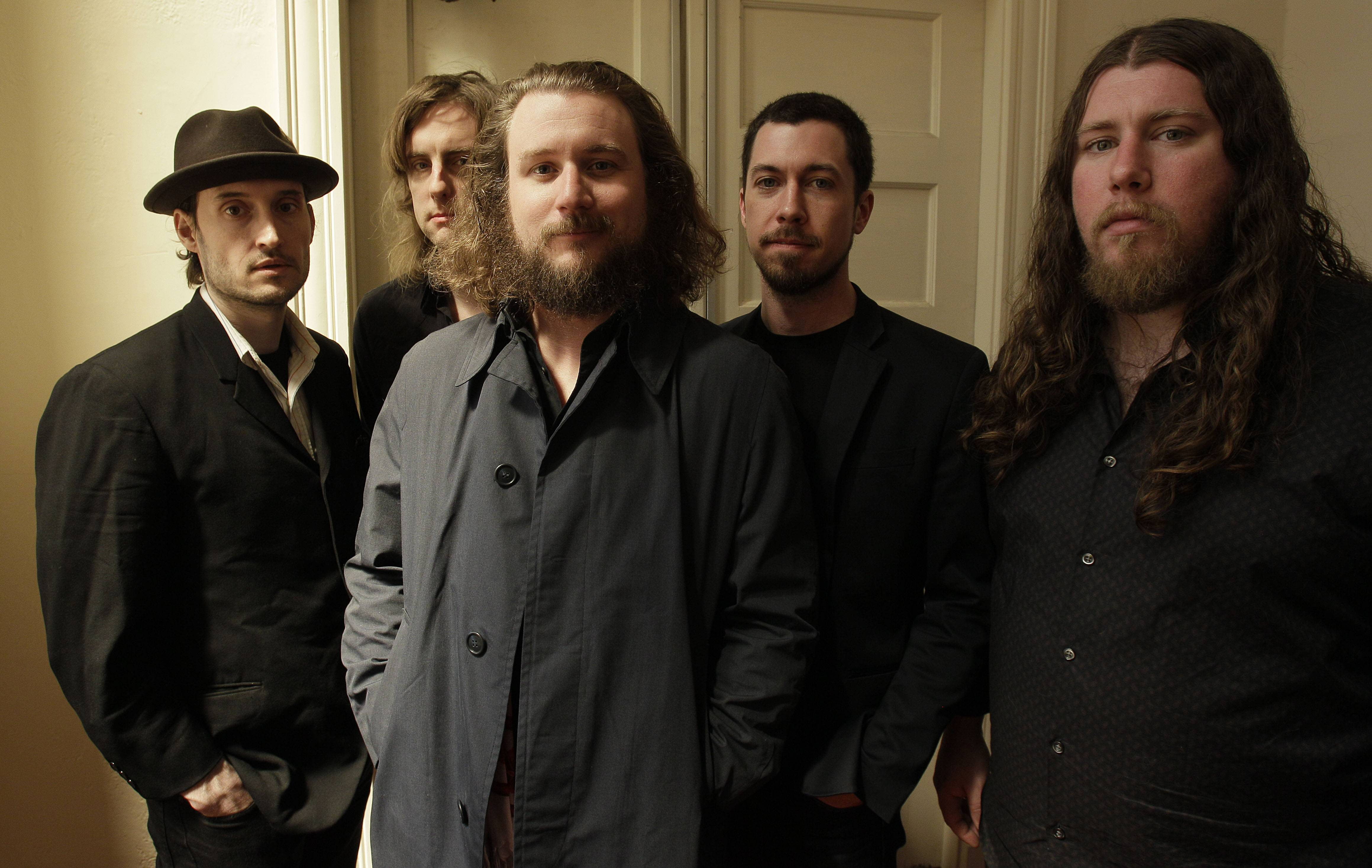 "My Morning Jacket — Bo Koster, left, Carl Broemel, Jim James, Tom Blankenship and Patrick Hallahan — released their much-anticipated new album, ""Circuital,"" Tuesday."