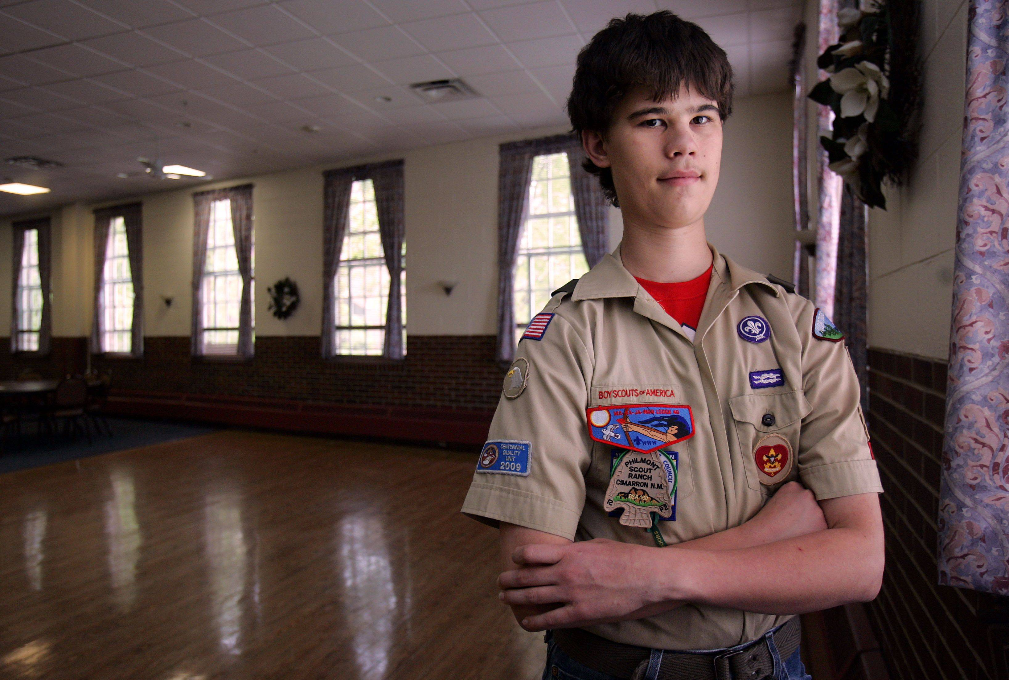 Matt Berklan, 15, of Libertyville is working on his final Eagle Scout project before reaching the Boy Scouts' highest honor. Berklan is collecting sports gear to donate to kids in Tanzania. One of his collection boxes is at the Libertyville Civic Center.