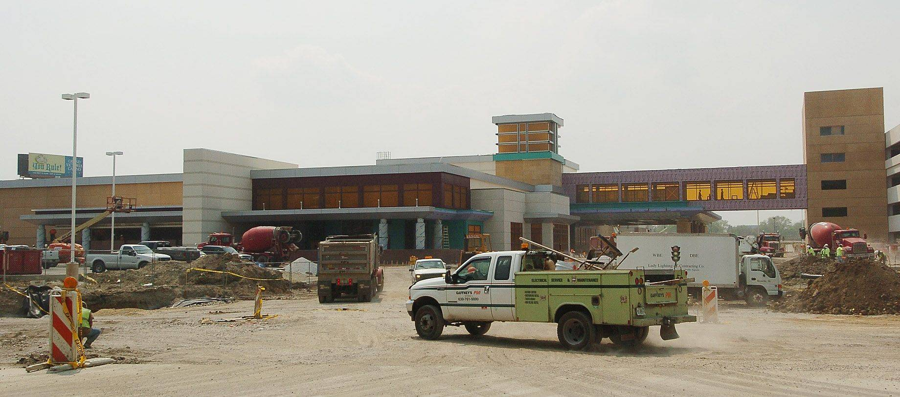 Work continues on the Des Plaines casino, which is expected to open this summer. Competition for the gambling dollar is expected to become all the more fierce if a gambling expansion plan is approved in Springfield.